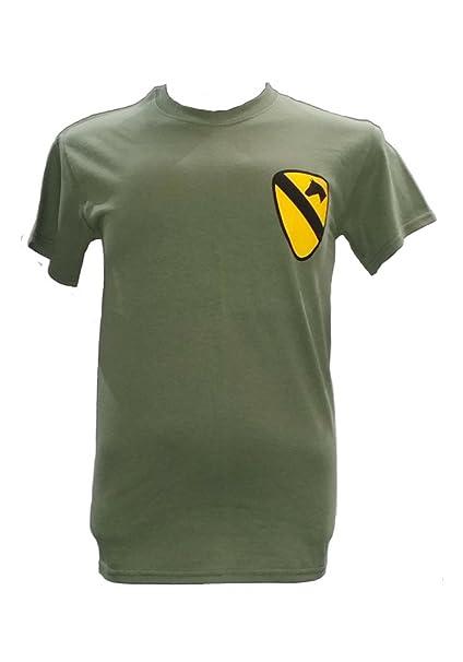 Camiseta militar con tema de la 1a. caballería aérea, guerra de Vietnam War verde verde oliva medium: Amazon.es: Ropa y accesorios