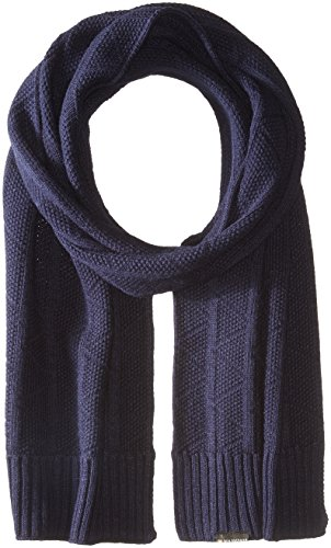 Ben Sherman Men's Text Scarf with Rib Knit Hem