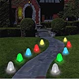 Gum drop Outdoor Christmas Pathway Lights, 8'' Tall Sugar Coated LED Decorations,10 Candy Covers included!