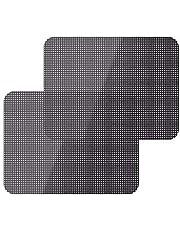 2pcs Black Side Car Sun Shades Rear Window Sunshade Cover Block Static Cling Visor Shield Screen Interior Accessories