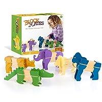 Guidecraft Block Mates - Bloque temático de animales de Safari, Juguetes educativos y de aprendizaje para niños