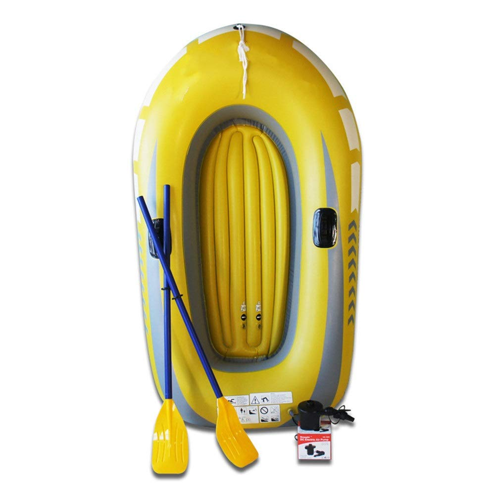 Shenghua1979-SP Kayaking Inflatable Fishing Boat Thick and Durable Drifting 2 Person Boat Outdoor Fishing Boats Double Drift Boat Kayaking (Color : Yellow, Size : 188x114cm) by Shenghua1979-SP