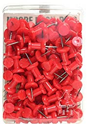 Moore Push Pins (Red) - Plastic (Pack of 100) 2 pcs sku# 1839501MA