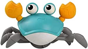Wind Up Crab Toys for Kids Baby Bath Toys Walking Crab Water Toys Beach Toys Kid (Green)