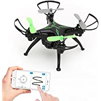 Worlds Easiest Fly App Controlled Mini Drone 720P HD WiFi Camera, Gyro RC Quadcopter, Gravity Sensor, One-Key Return, Headless Mode, 3D Flips, TWO Batteries