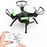 Image of World's Easiest Fly App Controlled Mini Drone 720P HD WiFi Camera, Gyro RC Quadcopter, Gravity Sensor, One-Key Return, Headless Mode, 3D Flips, TWO Batteries