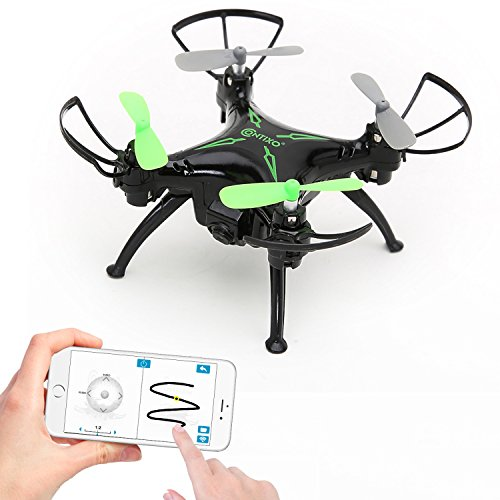 World's Easiest Fly App Controlled Mini Drone 720P HD WiFi Camera, Gyro RC Quadcopter, Gravity Sensor, One-Key Return, Headless Mode, 3D Flips, TWO Batteries