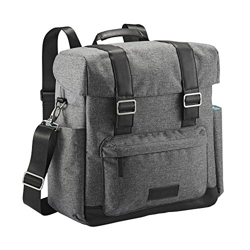 JJ Cole Knapsack Diaper Bag Gray Heather