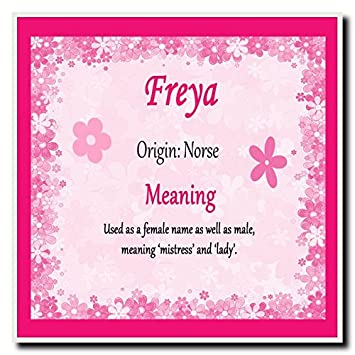 18ae681753d8c Freya Personalised Name Meaning Coaster: Amazon.co.uk: Office Products