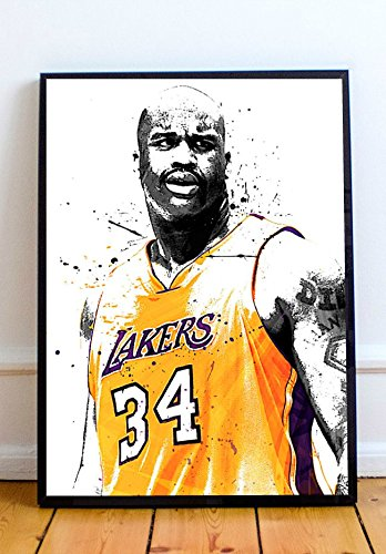 (Shaquille O'Neal Limited Poster Artwork - Professional Wall Art Merchandise (More Sizes Available) (11x14) )