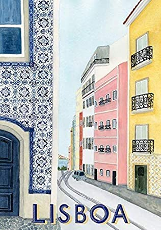 Lisboa - Portugal (Lisboa) - Viaje Vintage Foto Impresa Póster City Country Retro Decoración de Pared España Street View 001 (A5-A4-A3) - A5: Amazon.es: Amazon.es