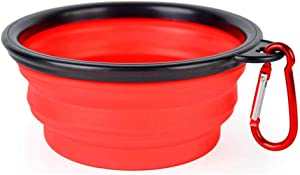 ONYADD Collapsible Dog Bowl/Collapsable Pet Water Bowls for Cats Dogs/Food Grade Silicone Dog Dishes/Portable Pet Feeding Watering Dish for Walking Parking Traveling