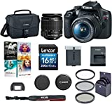Canon EOS Rebel T7 24.1MP DSLR Camera with EF-S 18-55mm f/3.5-5.6 is II Lens - Bundle with 58mm Filter Kit, Camera Case, 16GB SDHC Card, Pc Software Packge