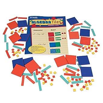 Amazon.com: ETA hand2mind ManipuLite Foam Algebra Tiles Class Kit ...