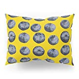 Society6 Blueberry Pattern Pillow Sham Standard (20'' x 26'') Set of 2