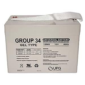 12 V Grupo 34 batería de Repuesto para Permobil C300 Corpus 3 G Silla de Ruedas: Amazon.es: Electrónica
