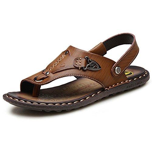Sandalias para Hombres Zapatillas De Playa Transpirables Y Resistentes Al Agua Sandalias Y Pantuflas Brown