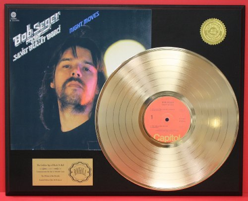Bob Seger'Night Moves' 24Kt Gold LP Record LTD Edition Display Gold Record Outlet