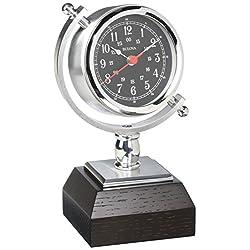 Bulova Sag Harbor Mantel Clock, 8.25, Silver