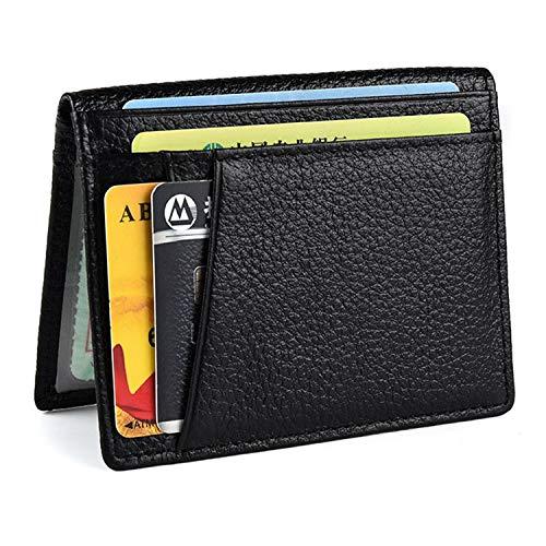 Ultra Slim Front Pocket Wallet, Bifold Mens Wallet with 8 Card Slots, Minimalist Travel -