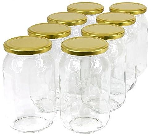 Elegant 900 Ml Einweckgläser Mit Deckel Gold Einmachgläser Vorratsgläser Einmachglas  Weck (Menge: 8 Stück)