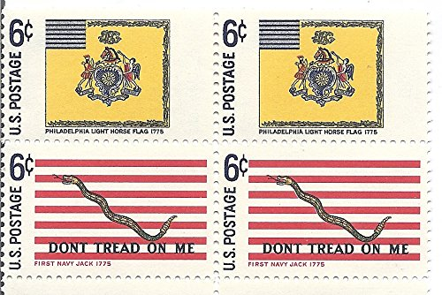1968 US Postage Stamp Block Of 4 (Flags) 6 Cent MNH Scott #1353 And #1354