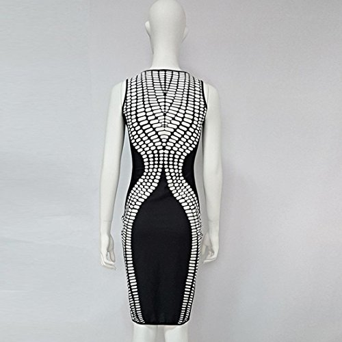 Tongshi Vestidos de cóctel sin mangas de las mujeres del vestido del  vendaje de Bodycon del 260062277a86