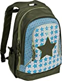 Lässig Mini Backpack Big Kinderrucksack Kindergartentasche, 32 x 18x 42 cm, Starlight olive