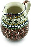 Polish Pottery 3½ cups Pitcher made by Ceramika Artystyczna (Cranberry Medley Theme) Signature UNIKAT + Certificate of Authenticity