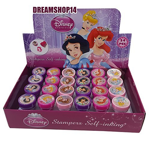(Disney's Princess Self-inking Stamps Birthday Party Favors 24 Pieces (Complete)