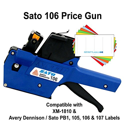 Sato Price Guns (10): TSA106 (PB1-6) Bulk PRICING [1 Line / 6 Characters] by Infinity Labels