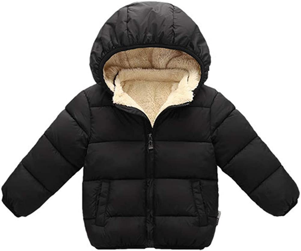 LzCxZDKN Baby Boys Down Jacket Warm Hooded Kids Coats Outerwear Winter Clothes
