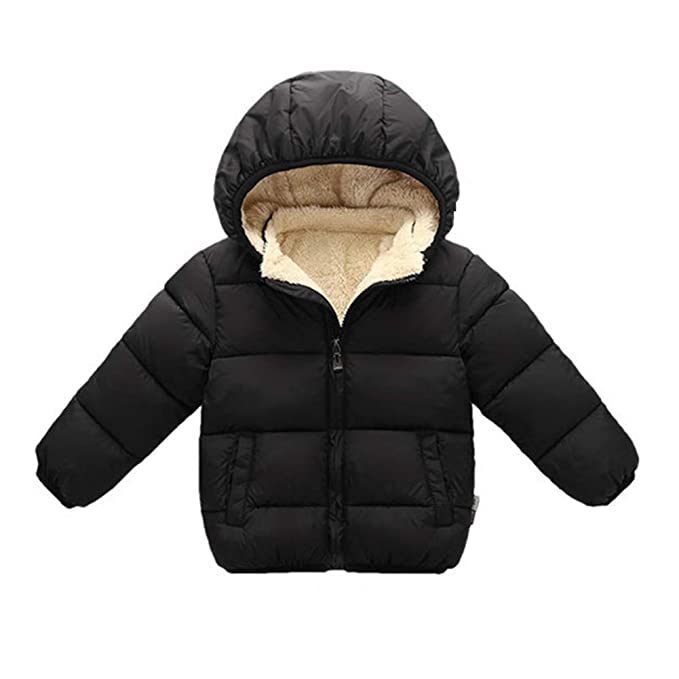 acdfca74f Amazon.com  Toddler Baby Hooded Down Jacket Boys Girls Kids Thicken ...