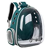 Ruzida Space Backpack Carrier Bag Breathable Transparent Capsule Travel Waterproof Bags for Pet Cat Puppy Small Animal