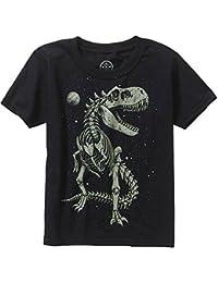 Boys Glow in the Dark T-Rex Skeleton Short Sleeve Graphic Tee