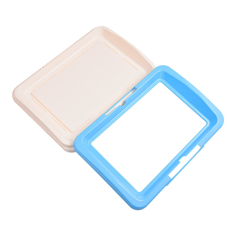 awtang Pet Training Toilet Small Sized Dog training Tray for Pets' Defecation Puppy Dog Potty Training Pad Blue by awtang (Image #4)