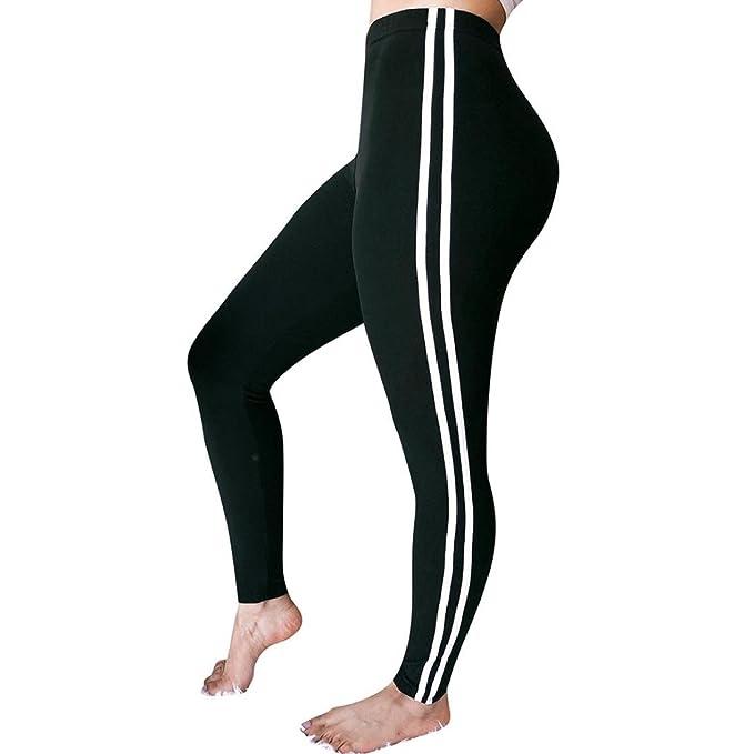 ❤ Pantalones de Mujer a Rayas, Cintura Media Pantalones Damas Casual Cordón Absolute: Amazon.es: Ropa y accesorios