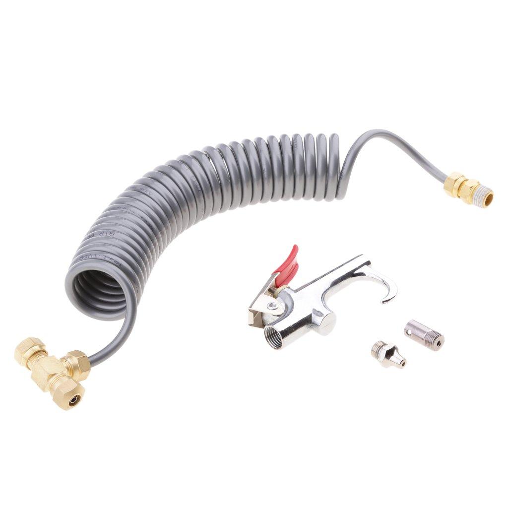 MagiDeal Filtre /à Air Blow Soufflette Outils de Nettoyage T-Connecteur M/âle 5m Nylon Tuyau