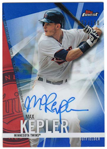 (Max Kepler 2017 Topps Finest Blue Refractor On Card Auto Serial #072/150 Minnesota Twins Autograph)