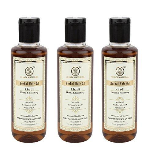 Organic Henna & Rosemary Hair Oil Pack of 3 ()