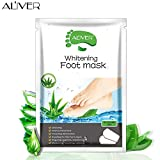 Foot Peel Mask, Peeling Away Dry Dead Skin, Callus Remover, Repair Rough Heels Foot Exfoliating Mask,Giving you Soft and Smooth Baby Feet in 2 Weeks (Aloe vera)