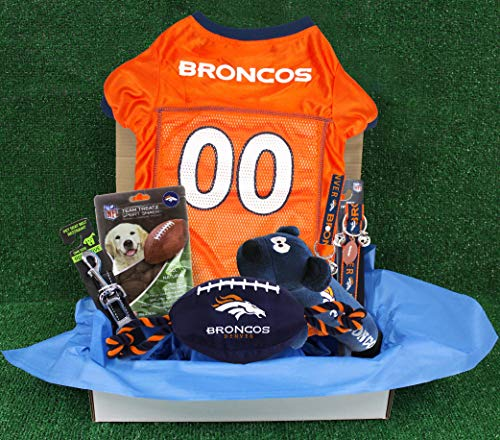 NFL Denver Broncos PET GIFT BOX with 2