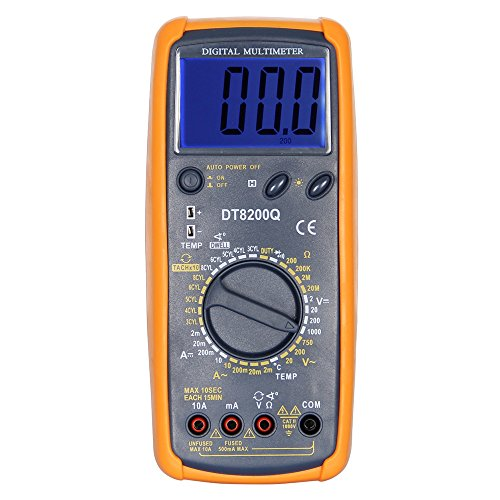 OLSUS DT-8200Q LCD Handheld Digital Multimeter for Home and Car - Gray by OLSUS (Image #1)