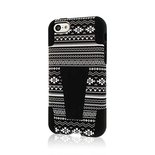 MPERO IMPACT X Series Kickstand Case Tasche Hülle for Apple iPhone 5C - Schwarz Aztec