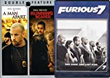 Vin Diesel & Paul Walker DVD Triple Feature: THE FAST AND FURIOUS 7 & A MAN APART & RUNNING SCARED