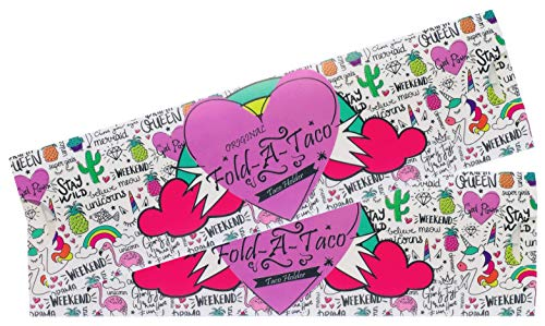 Taco Holder (Unicorn) | 2 Pack | Foldable | Tacos | Taco Shells | Taco Stand | Taco Holders | Tortilla Holder | Taco Party | Taco Plates | Taco Bar | Taco Stands | Taco Rack | Taco Tray | Taco Gifts by Fold-A-Taco (Image #5)