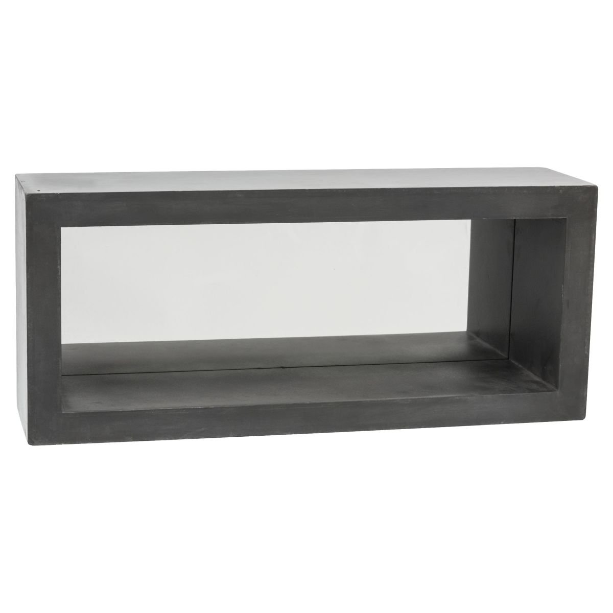 Wandregal betonoptik : Miavilla wandregal felix beton optik spiegel mdf grau 70 cm breit