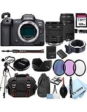 Canon EOS R5 Mirrorless Digital Camera with 24-105mm f/4-7.1 Lens Bundle + 75-300mm F/4-5.6 III Lens + 128GB Memory + Case + Filters + Tripod (26pc Bundle)