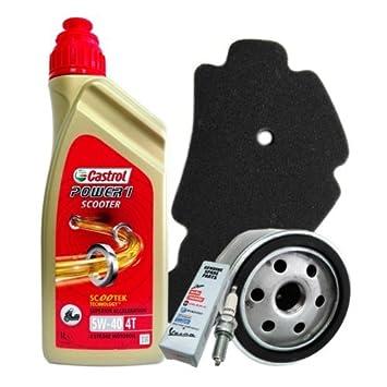 Kit de Mantenimiento para motos: Aceite Castrol Actevo 5W40 + Filtro de Aceite para Gilera Nexus SP / E3 500 2006 - 2007: Amazon.es: Coche y moto