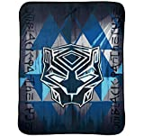 Jay Franco Kids Character Throw Blanket Avengers - Black Panther Blue